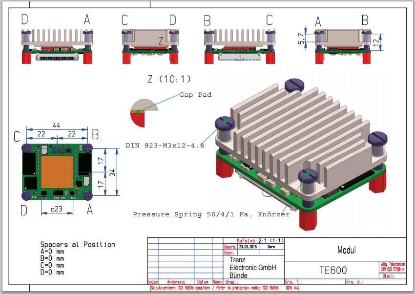 Heatsink for TE0600